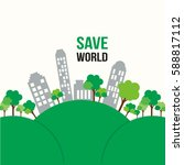 green concept  eco  save world | Shutterstock .eps vector #588817112
