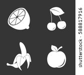 fruits icons set isolated on ... | Shutterstock .eps vector #588817916