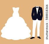 wedding card with the clothes...   Shutterstock .eps vector #588818366
