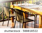 wood chairs and counters  for... | Shutterstock . vector #588818522