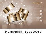 hydrating facial cream for... | Shutterstock .eps vector #588819056