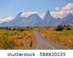mozambique road | Shutterstock . vector #588820235