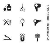 set of 9 editable coiffeur...
