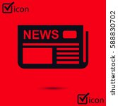 flat design. overview of news... | Shutterstock .eps vector #588830702
