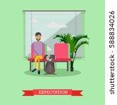 vector illustration of man... | Shutterstock .eps vector #588834026