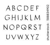 vector handwritten alphabet.... | Shutterstock .eps vector #588834902
