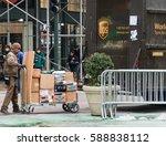 new york city   circa 2017  ups ... | Shutterstock . vector #588838112