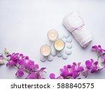 spa still life concept close up ... | Shutterstock . vector #588840575