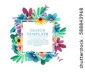 banner design template with... | Shutterstock .eps vector #588843968