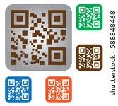 qr code icon | Shutterstock .eps vector #588848468