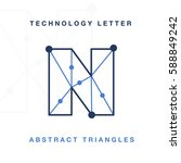 abstract letter triangle... | Shutterstock .eps vector #588849242