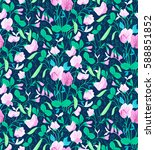 Pretty Floral Pattern With...