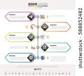 timeline infographics design...   Shutterstock .eps vector #588852482