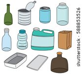 vector set of recycle item | Shutterstock .eps vector #588853526