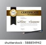 certificate template a4 size... | Shutterstock .eps vector #588854942