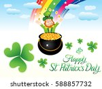abstract artistic st patrick... | Shutterstock .eps vector #588857732
