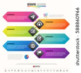 timeline infographics design... | Shutterstock .eps vector #588860966