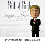 donald trump bobble head figure ... | Shutterstock . vector #588862196
