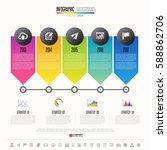 timeline infographics design... | Shutterstock .eps vector #588862706