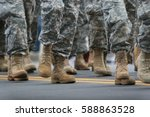 soldiers dressed in army... | Shutterstock . vector #588863528