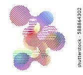 abstract vector background dot... | Shutterstock .eps vector #588864302