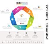 infographics design template... | Shutterstock .eps vector #588864656