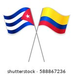cuban and colombian crossed... | Shutterstock .eps vector #588867236