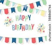 happy birthday card template... | Shutterstock .eps vector #588868766