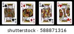 4 kings in a row   playing... | Shutterstock . vector #588871316
