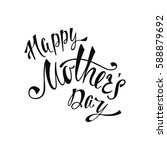 happy mother's day greeting... | Shutterstock .eps vector #588879692