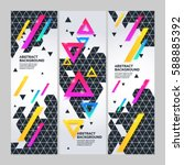 set modern abstract geometric... | Shutterstock .eps vector #588885392