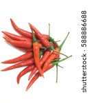 chillies with isolated white... | Shutterstock . vector #588886688