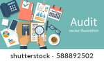 auditing concepts. auditor at... | Shutterstock .eps vector #588892502