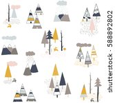 Tribal Hand Drawn Pattern With...