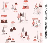 tribal vector pattern with... | Shutterstock .eps vector #588892946