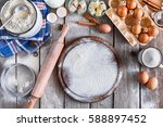 baking background. cooking... | Shutterstock . vector #588897452