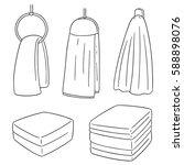 vector set of hand towel | Shutterstock .eps vector #588898076