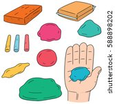 vector set of clay for kid | Shutterstock .eps vector #588898202