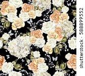 bright watercolor seamless... | Shutterstock . vector #588899552