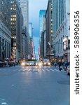 new york city   circa 2017 ... | Shutterstock . vector #588906356