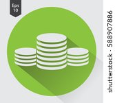 stack coins flat icon. simple... | Shutterstock .eps vector #588907886