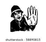 policeman yelling stop   retro... | Shutterstock .eps vector #58890815