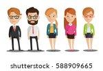 group of business men and women ...   Shutterstock .eps vector #588909665