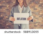 inflation concept | Shutterstock . vector #588913055