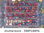 container container ship in... | Shutterstock . vector #588918896