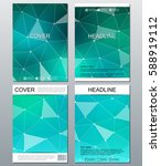 set of business templates for... | Shutterstock .eps vector #588919112