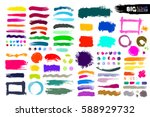big collection of color paint ... | Shutterstock .eps vector #588929732