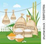 vector cartoon illustration.... | Shutterstock .eps vector #588933986