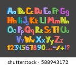 big and small colorful letters... | Shutterstock .eps vector #588943172