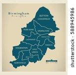 modern city map   birmingham...   Shutterstock .eps vector #588945986